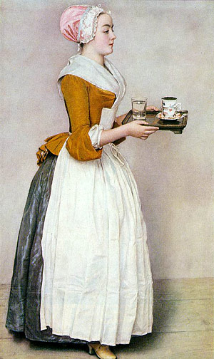 La Belle Chocolatiere by Jean Liotard