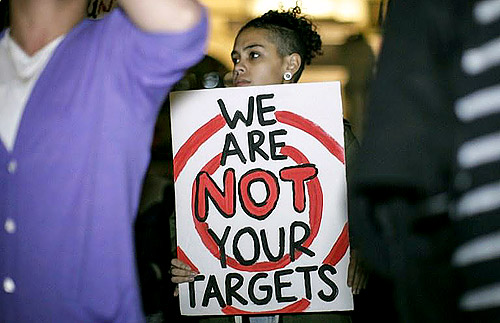 We are not your targets