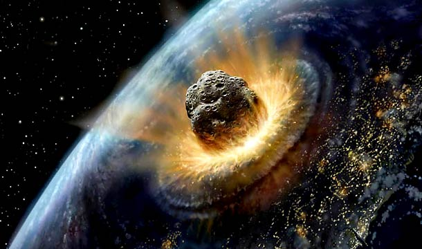 asteroid to earth